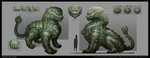 Cathay Guardian Lion Concept Art