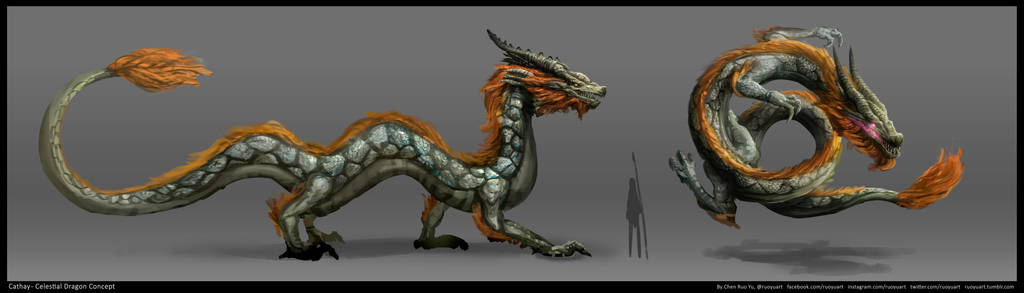 Cathay Celestial Dragon Concept by ruoyuart