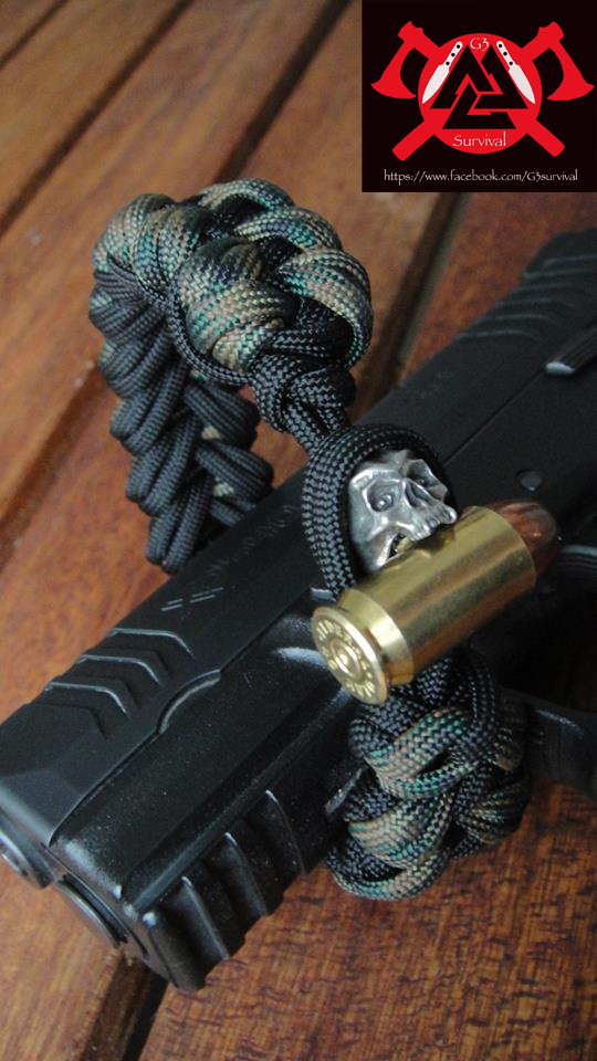 G3survival 550 paracord bracelet with skull by g3survival for Paracord wallpaper