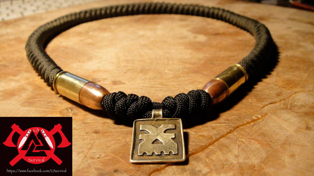 G3survival 550 paracord 45 inert bullet necklace by for Paracord wallpaper