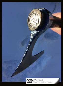 G3 Bearded Axe and Leather sheath / belt loop