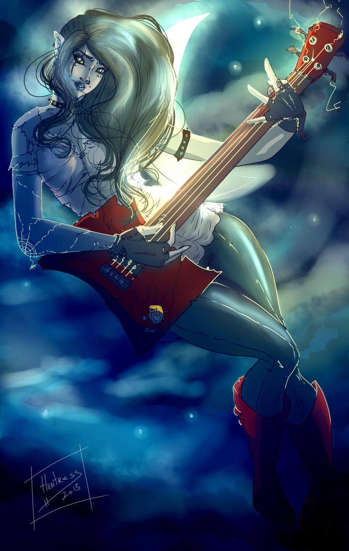 Hora de Aventuras - Marceline Fan art  Color by Huntress616