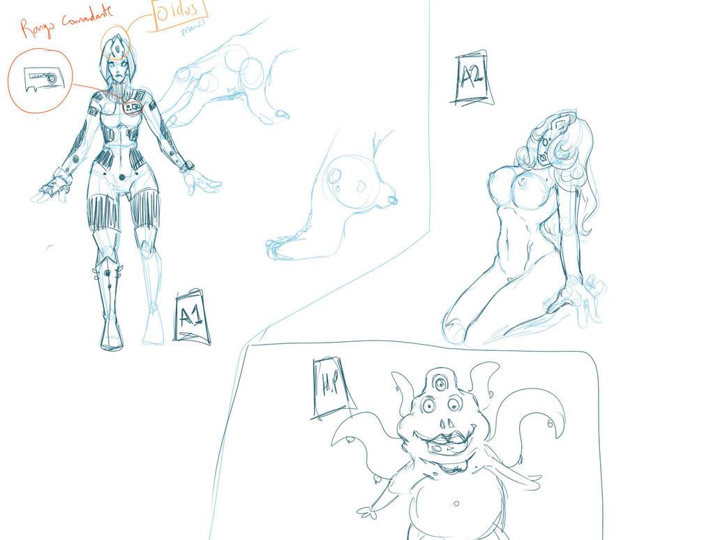 Personajes 01 by Huntress616