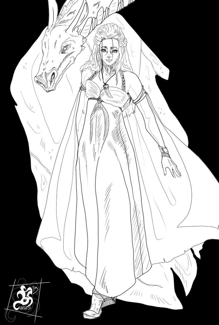 Daenerys Targaryen - ByN by Huntress616