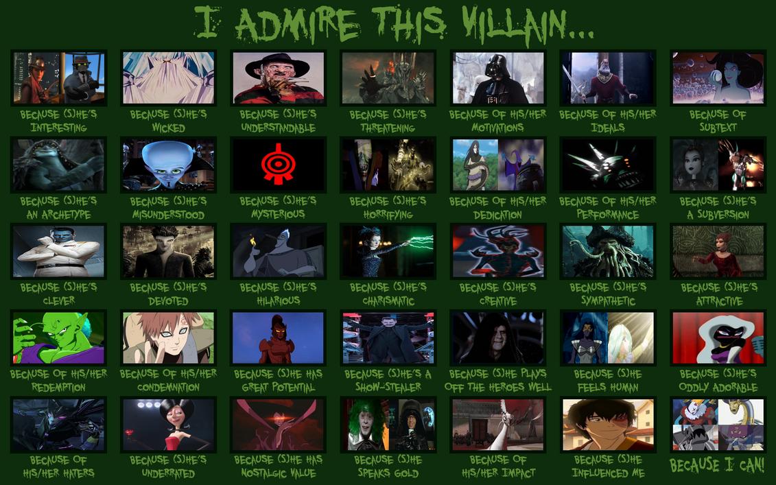 My I Admire This Villain Meme
