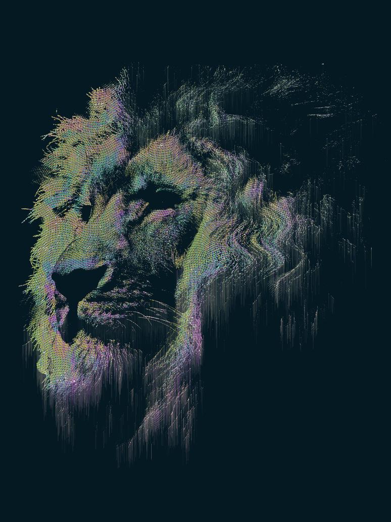 Neue Glitch | Lion by CDixonM