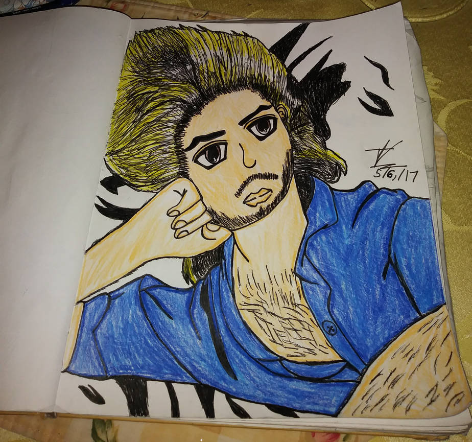 George Michael Drawing #2 (finished)