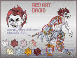 Red rat droid (open) by Ritka111