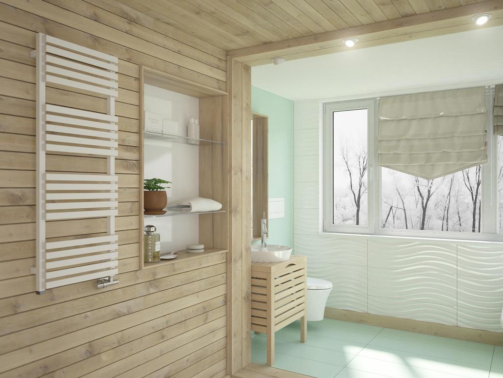 Wooden bathroom by W-Art3D