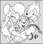 ranger family hug