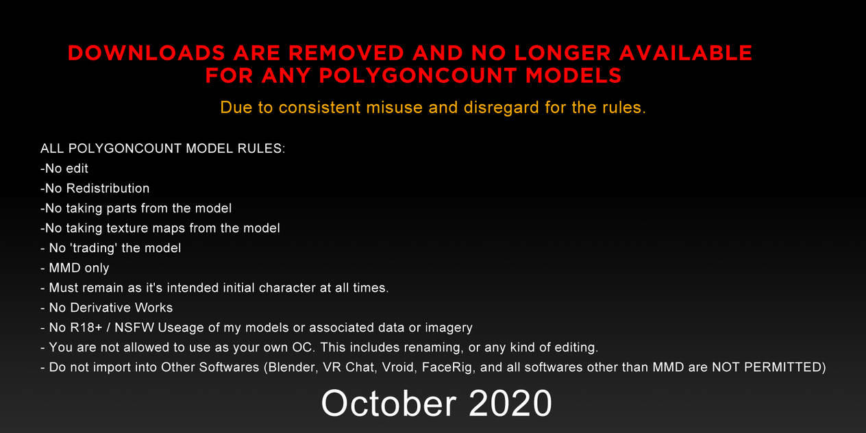 2020 - ALL MODEL DOWNLOADS REMOVED.
