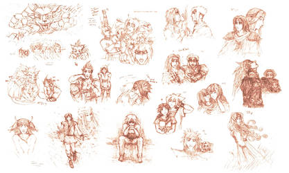 Lasting Bonds- Sketches part4 by neshirys