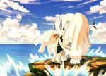 Lugia and Neshi - Meeting at the Sea
