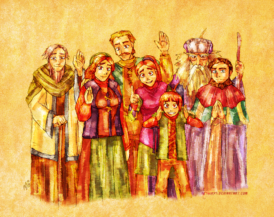 Golden Sun - Farewell, the People of Vale! by neshirys