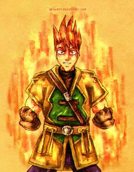 Golden Sun - Fire Soldier Garet