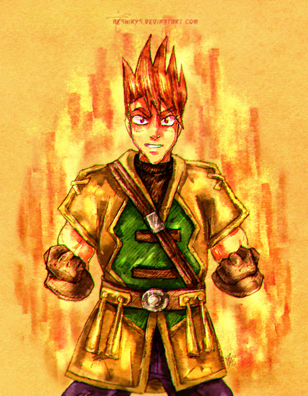Golden Sun - Fire Soldier Garet by neshirys