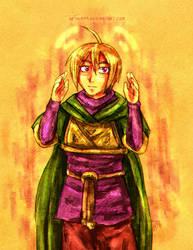 Golden Sun - Wind Pilgrim Ivan by neshirys