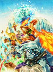 Golden Sun - Battle with Saturos