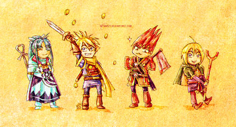 Golden Sun - Chibi Team One by neshirys