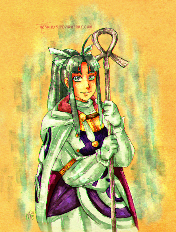 Golden Sun - Water Cleric Mia by neshirys