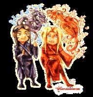 Neryuu And Sairo - Chibis by neshirys