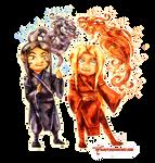 Neryuu And Sairo - Chibis