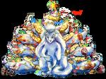 Pokemon Christmas - Snowmon Ninetales