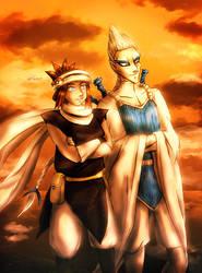 Sunset Talks - Neshi and Lugia by neshirys