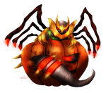 Octoberland - Giratina the Pumpkin Worm by neshirys
