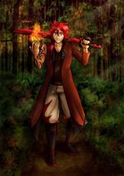 Rayne the Firestarter by neshirys