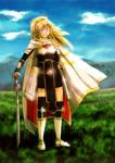 Amara the Dawn Warrior by neshirys