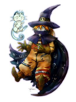 Wizardmon and a Ghost Friend