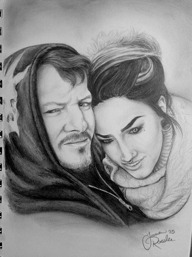 A Couple by aPeculiarFox