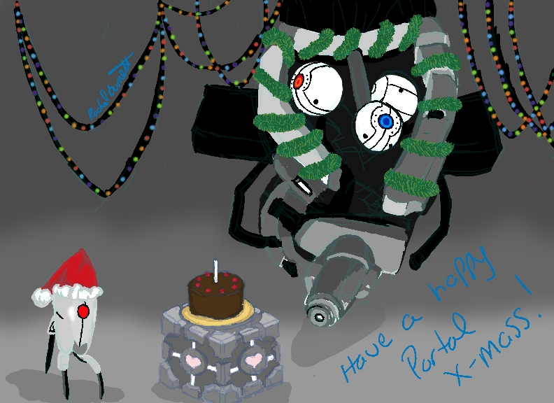 Portal Christmas by Knight-Of-Dodge on DeviantArt