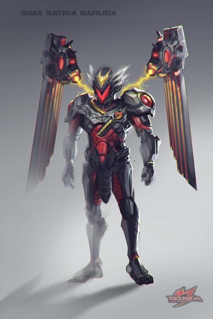 Bima Satria Garuda Concept Fan Art by ekoputeh