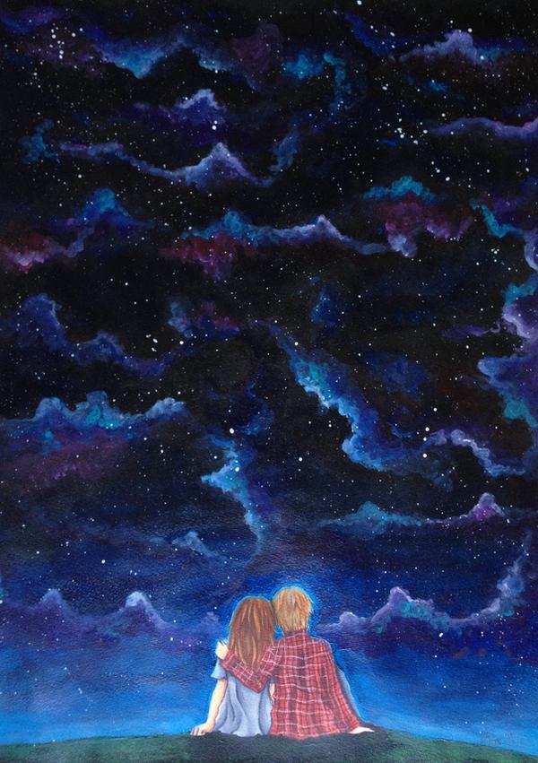 Starry Night Sky By Noaruu On DeviantArt