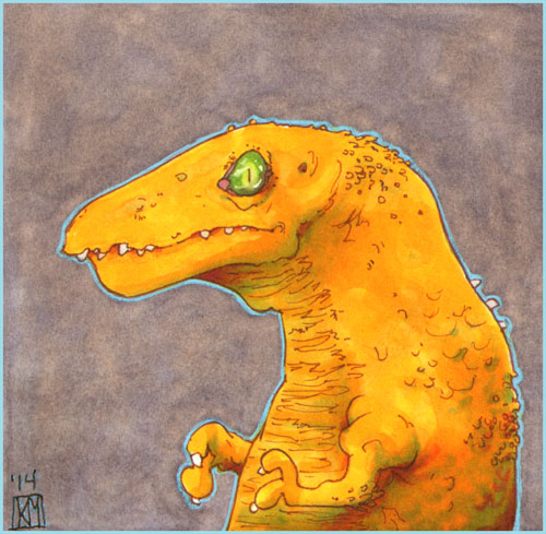 With love, to orange T-rexes everywhere~ by el-roacho