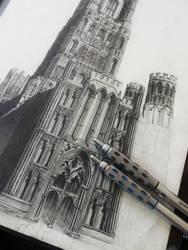 Ely Cathedral progress by ianmckendrick