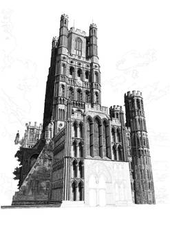 Ely Cathedral Drawing