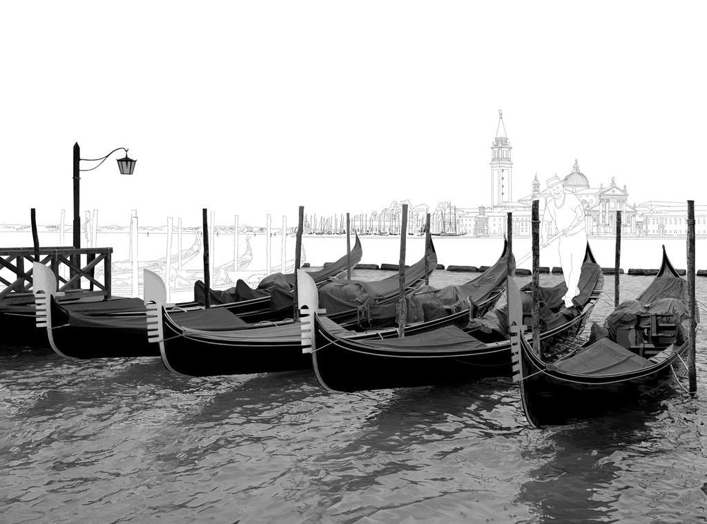 Gondolas in Venice WIP by ianmckendrick
