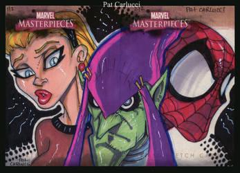Gwen Stacy Green Goblin Spidey by PatCarlucci