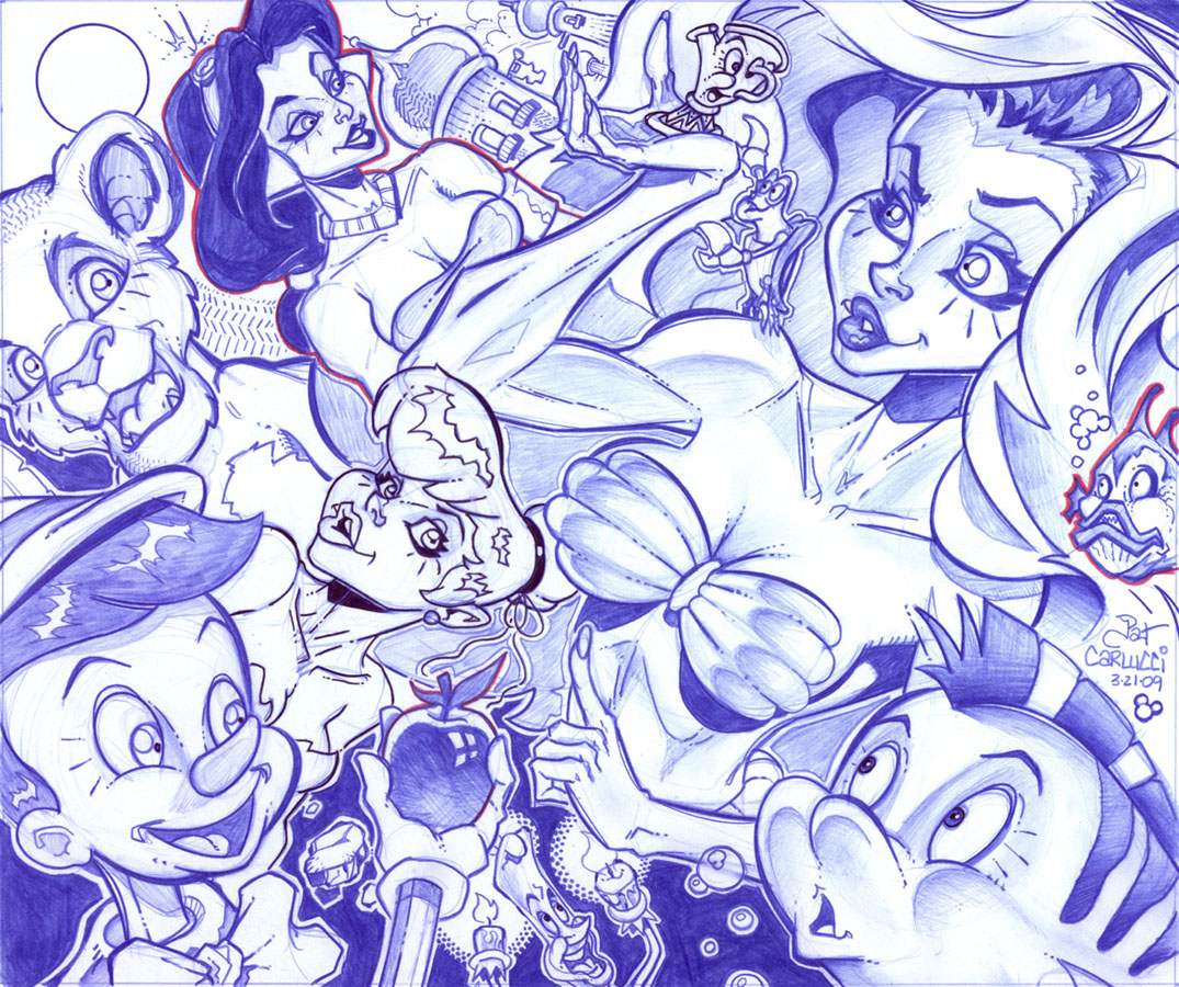 Cool Frame Disney Collage O Characters By Patcarlucci On Deviantart