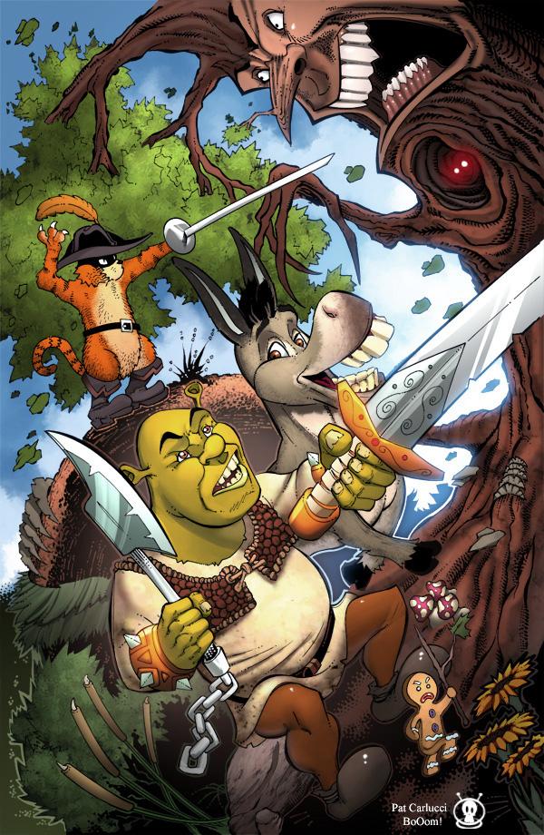 Shrek in dark woods by PatCarlucci