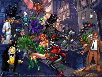 Batman and friends VS everyone by PatCarlucci