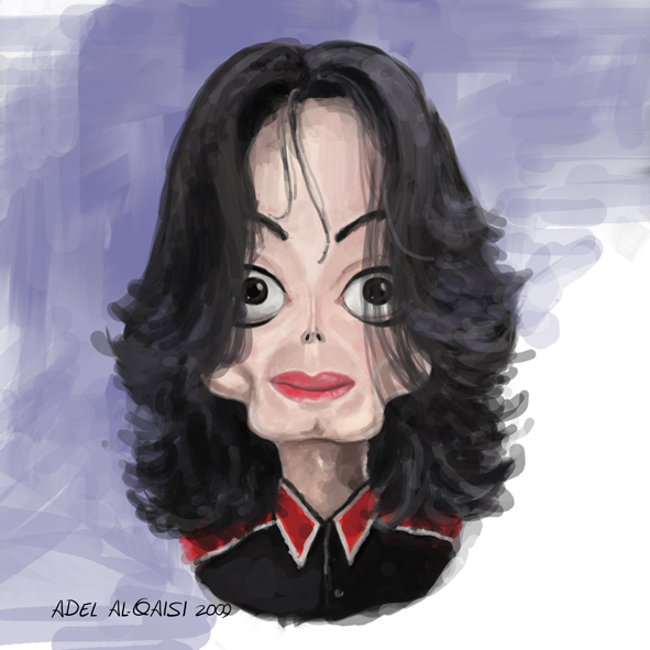 michael jackson caricature by adel2009