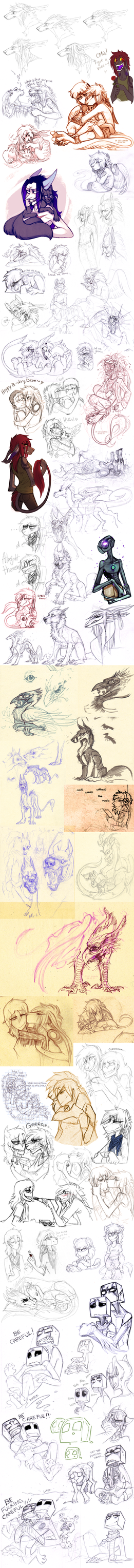 Sketch dump 47 by LiLaiRa