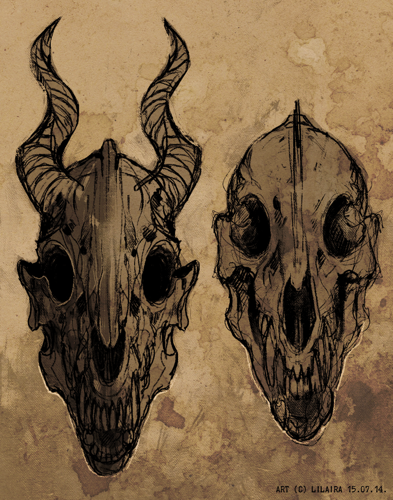 two random monster skulls by LiLaiRa
