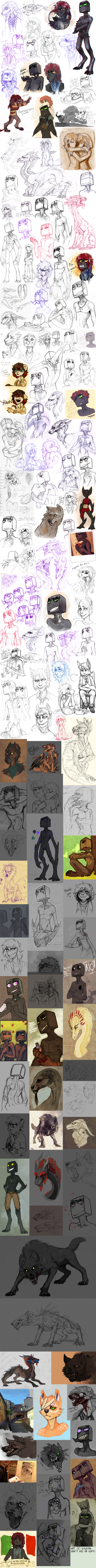 Sketch dump 56 by LiLaiRa