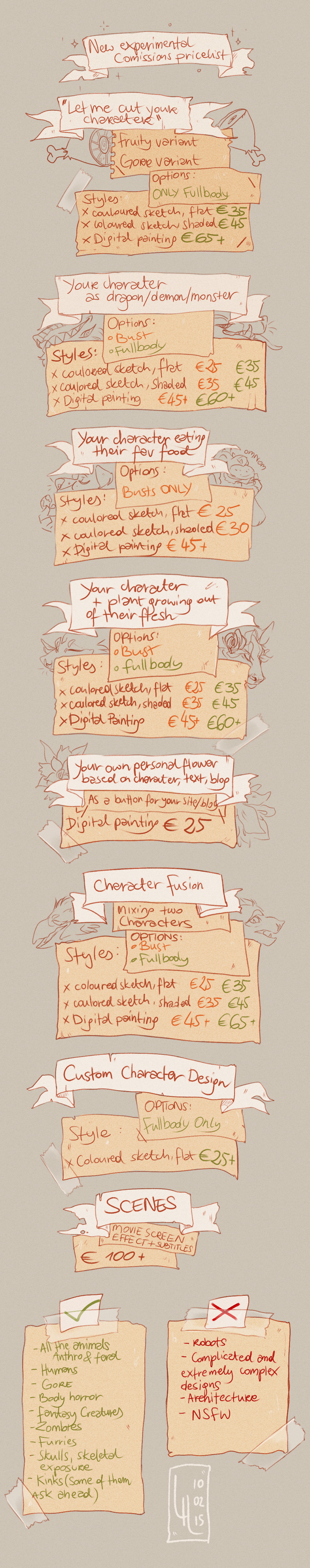 Pricelist by LiLaiRa