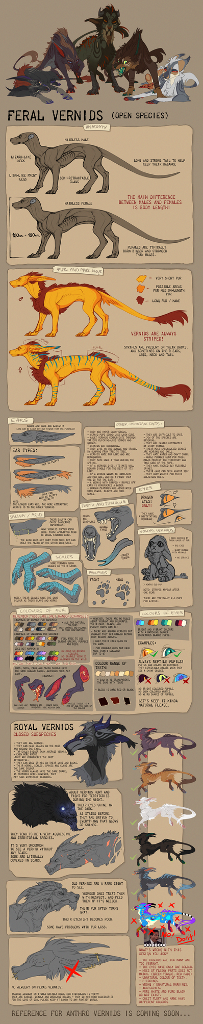 Feral Vernid Reference and QandA by LiLaiRa